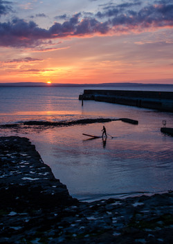 Enniscrone Paddle Board Sunset