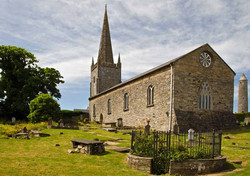 Killala Cathedral and Round Tower