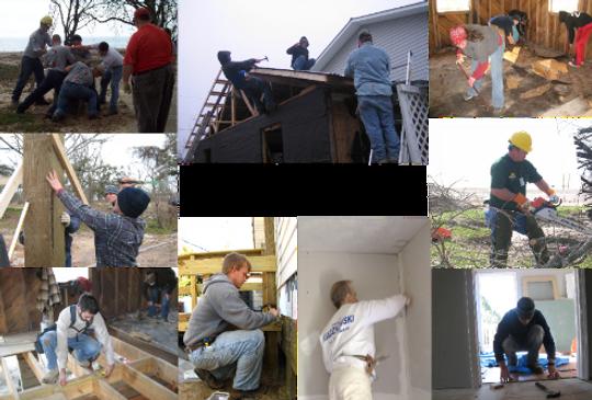 volunteers working in MS after hurricane katrina