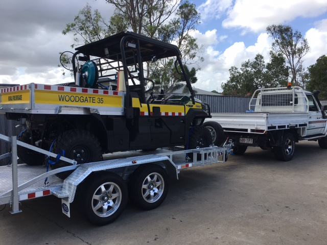 QFES UNIT WOODGATE ON CUSTOM TRAILER