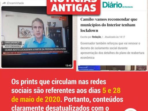 GOVERNO DO ESTADO DESMENTE NOVO LOCKDOWN A PARTIR DESTA SEXTA-FEIRA NO CEARÁ