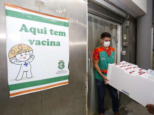 CEARÁ RECEBEU MAIS 137 MIL DOSES DE VACINAS NESTA ÚLTIMA QUARTA-FEIRA (30)