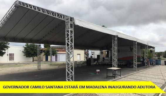 GOVERNADOR CAMILO SANTANA ESTARÁ EM MADALENA INAUGURANDO ADUTORA