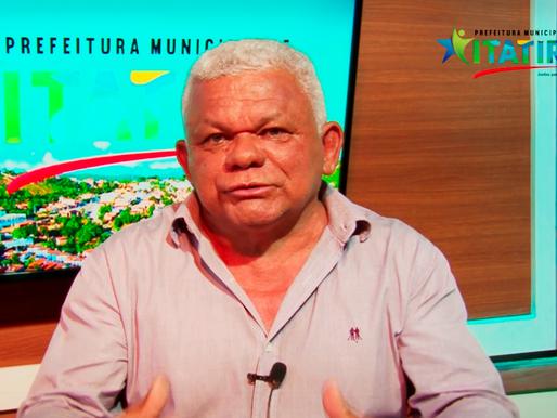 PREFEITO DE ITATIRA DESTINARÁ 100 MIL REAIS EM CESTAS BÁSICAS PARA POPULAÇÃO CARENTE NA SEMANA SANTA