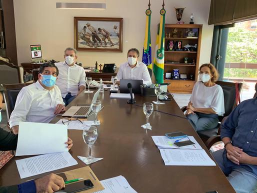 GOVERNADOR DO CEARÁ ESTÁ REUNIDO COM EQUIPE TECNICA DA SESA E LOGO MAIS ANUNCIARÁ NOVO DECRETO