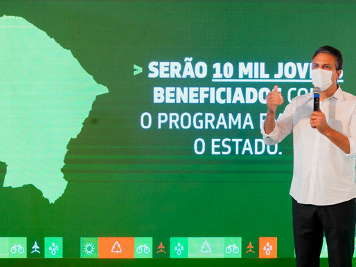 GOVERNO DO CEARÁ LANÇA PROGRAMA AGENTE JOVEM AMBIENTAL COM AUXÍLIO DE R$ 200 POR MÊS
