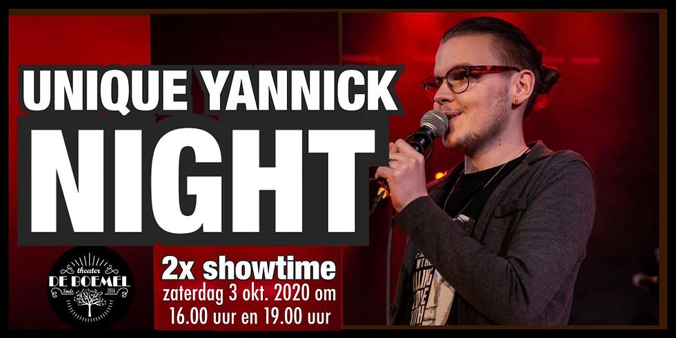 Unique YANNICK NIGHT 16.00 uur