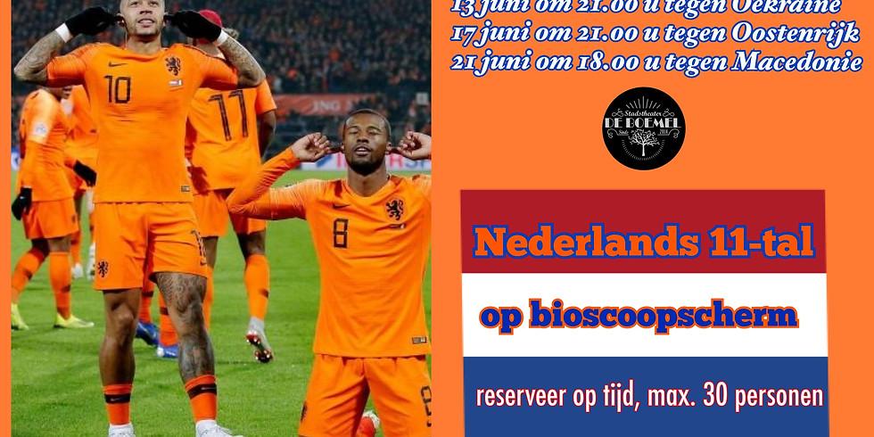 Nederlands 11-tal op Mega scherm 13 juni