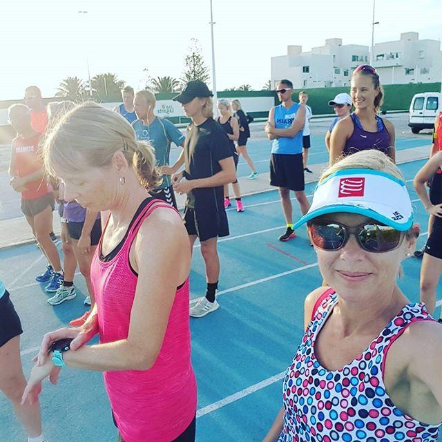 First morning - half marathon time!