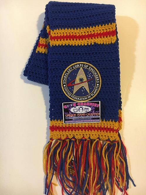 Star Trek Starfleet Corps Of Engineers Scarf 6Ft long