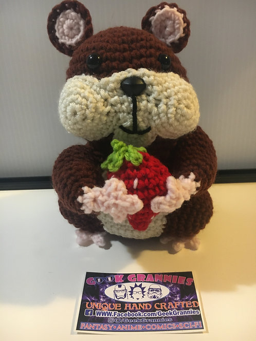 Hamster with berry 10""
