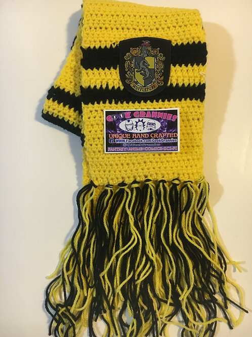Hufflepuff Second Year Scarf 6ft long
