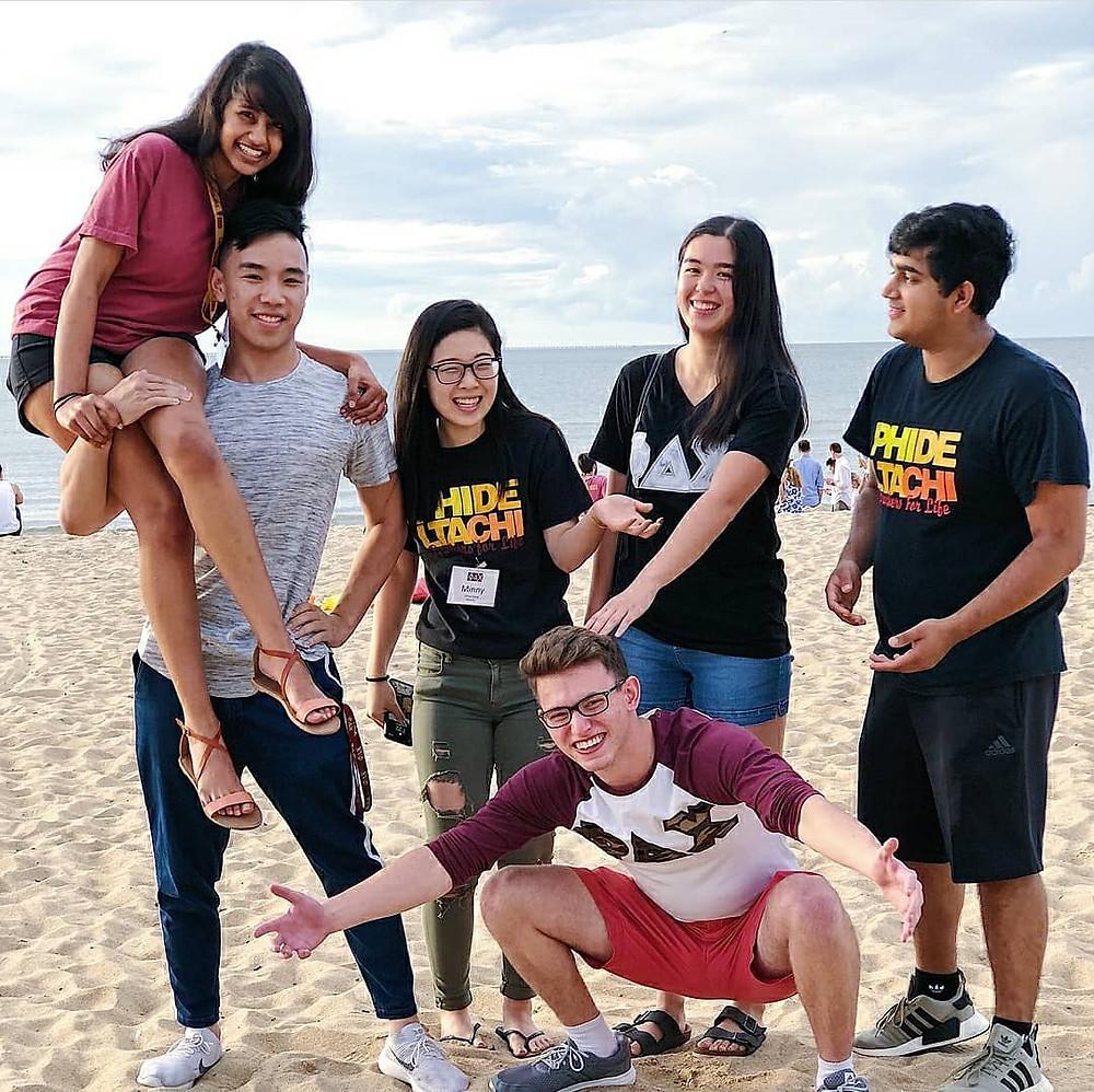 Six brothers (Jahnavi Yetukuri, Justin Hall, Minny Jeong, Samuel Golbin, Monica Douglas, Achint Raince) spent the past week developing their leadership skills and made amazing memories at Virginia Beach!