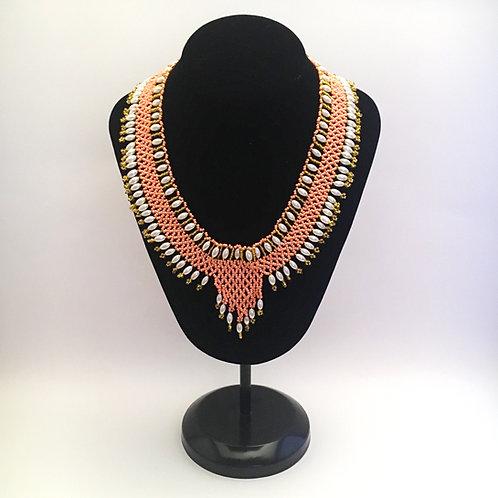 Peach Collar Necklace