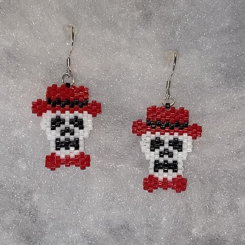 Fancy Skull Earrings