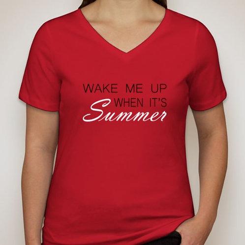Women's Wake Me Up When It's Summer V-neck