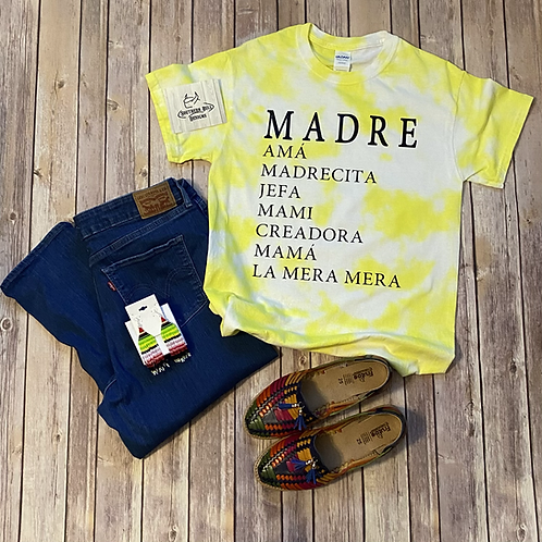 <Pre-Order> Madre Tie dye Yellow Tee