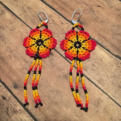 Sunset Flower Earrings
