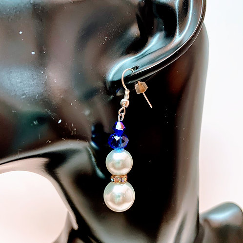 Snowman Bead Earrings