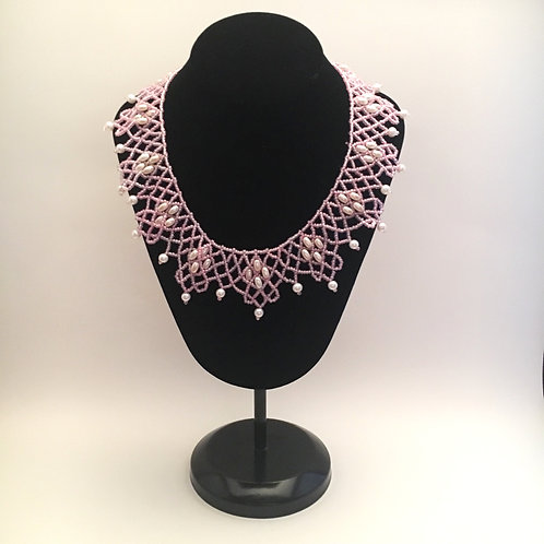 Pink Collar Necklace