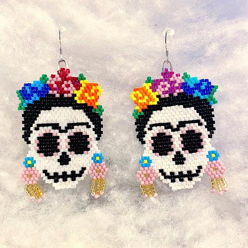 Frida Sugar Skull Earrings
