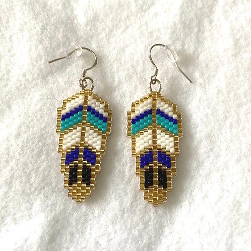 Feather Miyuki Bead Earrings