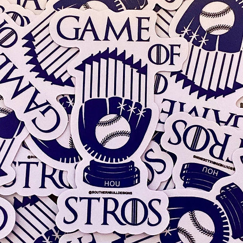 Game of Stros Stickers
