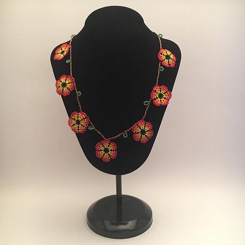 Single Strand Flower Necklace