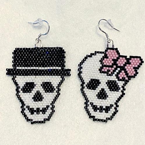 Skull Couple Earrings