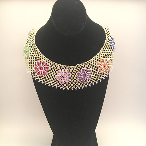 Flowers Collar Necklace