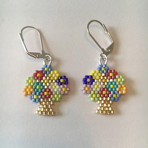 Flower Basket Earrings