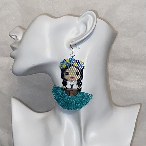 Pigtails Tassel Earrings