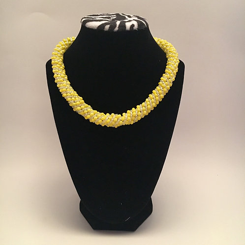 Yellow Spiral Set (Necklace & Bracelet)
