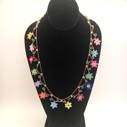 Multiple Flower Power Necklace