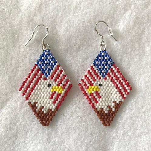 USA Eagle Earrings