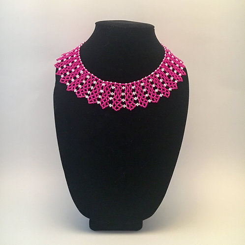 Pink Neck Scarf Necklace