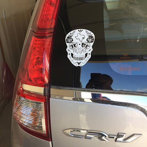 Texas Sugar Skull Decal