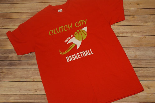 Unisex Red Clutch City Basketball Tee