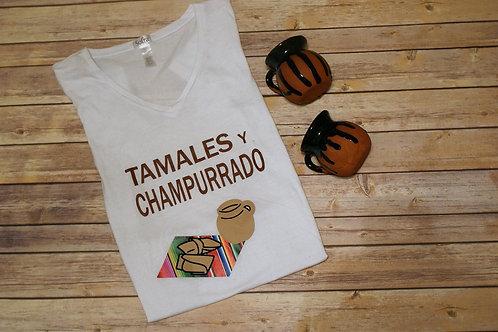 Women's Tamales Y Champurrado V-neck