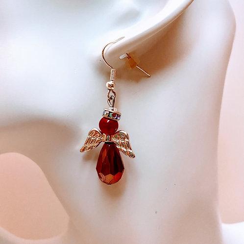 Teardrop Bead Angel Earrings