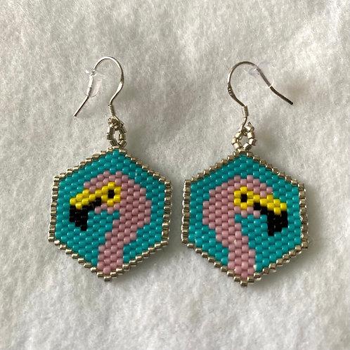 Flamingo Bead Earrings