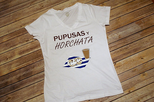 Women's Pupusas Y Horchata V-neck