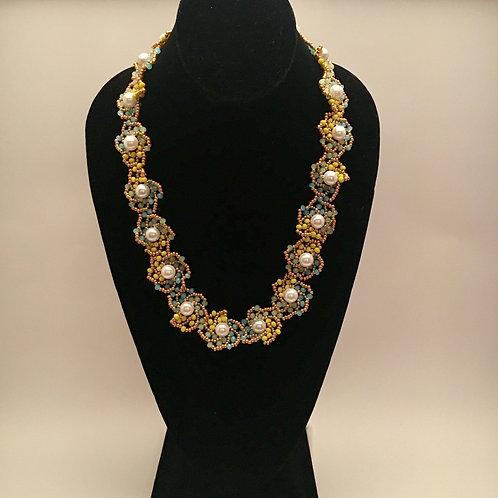 Spiral Flower Set (Necklace, Bracelet, Earrings)