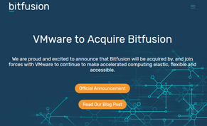 Portfolio Company News: Bitfusion Acquired by VMWARE, Plans to integrate into vSphere