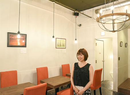 My photos are on the wall at restaurant in TOKYO.