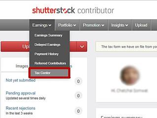 Tax W-8BEN for Shutterstock.com
