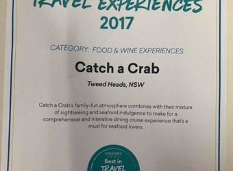 Catch a Crab named one of 'Best in Travel Experiences' 2017!
