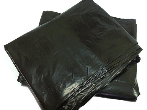 Мешок для мусора 240л-360л БЕЗ ЭТИК 105х135 см, ПВД, черный, 107 гр, 50 шт/уп