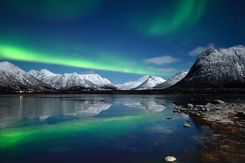 Nordlys over Vesterålen - Veggfoto