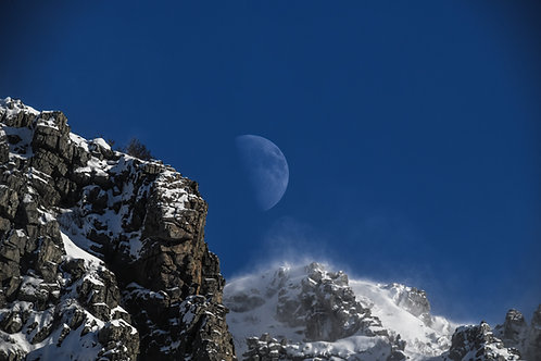 Måne over Andøya - Veggfoto